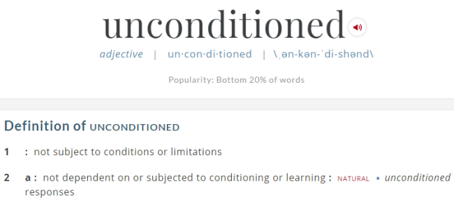 unconditioned